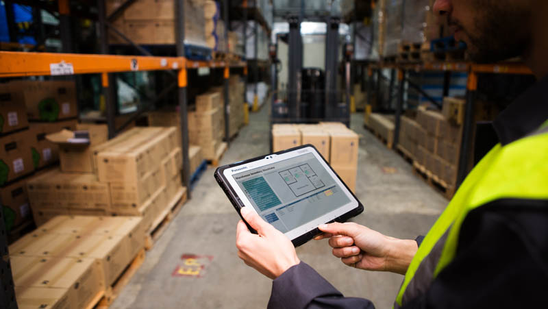 toughbook in warehouse